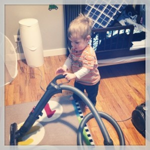 Our child is obsessed with vacuuming... Not sure if it's just fun or if our house is that messy.